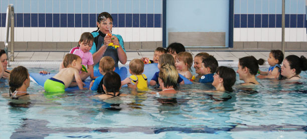 nia teaching a swimming class